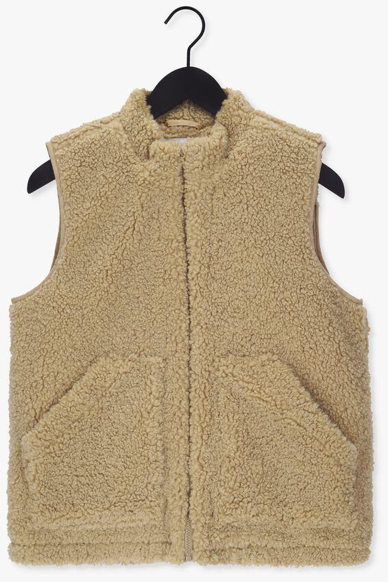 Khaki NA-KD Vest TEDDY VEST - larger