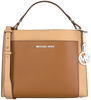 Camel MICHAEL KORS Handtas GEMMA MD POCKET TH SATCHEL  - small