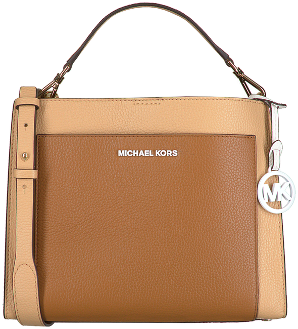 Camel MICHAEL KORS Handtas GEMMA MD POCKET TH SATCHEL  - large