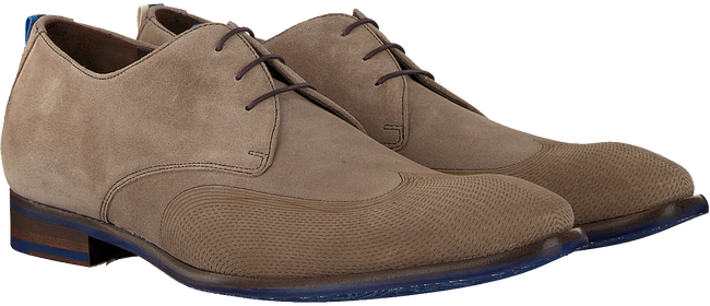 Taupe FLORIS VAN BOMMEL Nette schoenen 18082  - large