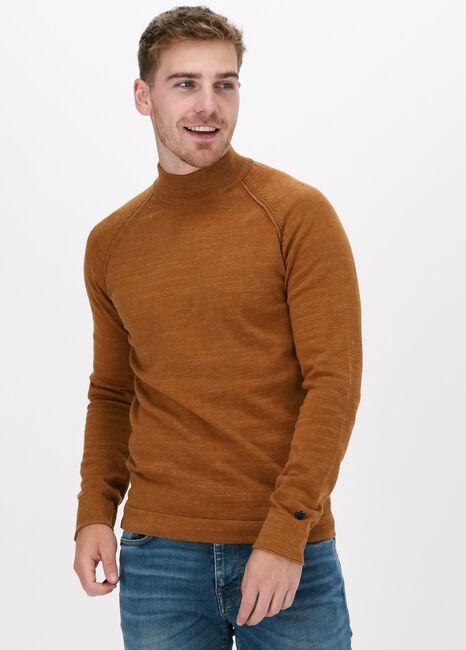 Oranje CAST IRON Trui MOCK NECK SLIM FIT COTTON HEAT - large