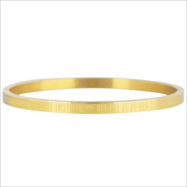 Gouden MY JEWELLERY Armband BLIJF NAAR JE HART LUISTEREN B - large
