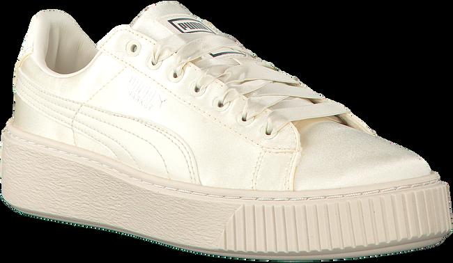 Witte PUMA Sneakers BASKET PLATFORM TWEEN JR  - large
