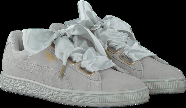 Grijze PUMA Sneakers SUEDE HEART SATIN  - large