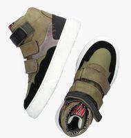 Groene RED-RAG Hoge sneaker 13499  - medium