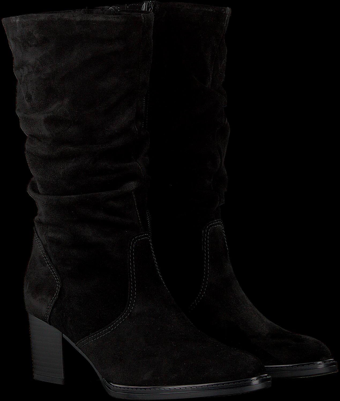 Zwarte GABOR Lange laarzen 894   Omoda