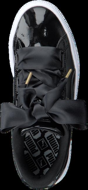 Zwarte PUMA Sneakers BASKET HEART PATENT  - large