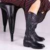Zwarte CATARINA MARTINS Lange Laarzen NOMAD HIGH EMBROIDERY  - small