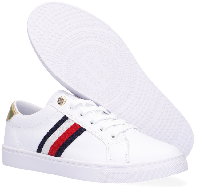 Witte TOMMY HILFIGER Lage sneakers TH CORPORATE CUPSOLE  - large