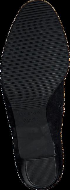 Zwarte HASSIA Enkellaarsjes 6922  - large