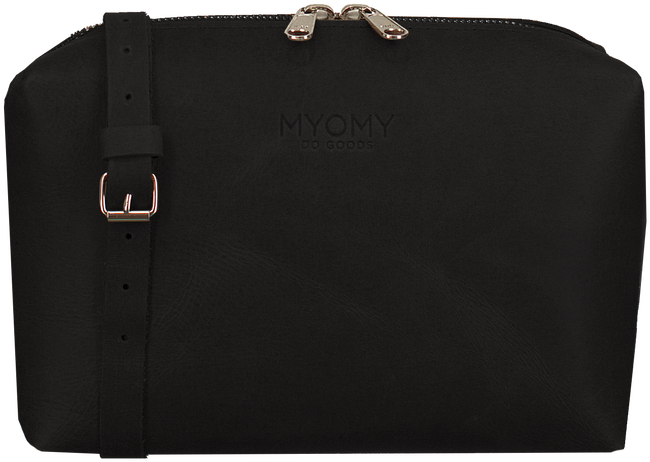 Zwarte MYOMY Schoudertas MY BLACK BAG - large