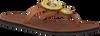 Cognac OMODA KUBUNI Slippers SLIPPER FLOWER - small