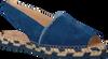 Blauwe FRED DE LA BRETONIERE Sandalen FRS0323 ESPADRILLE SANDAL SUED - small