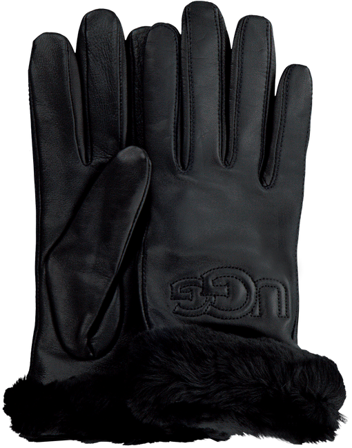 Zwarte UGG Handschoenen CLASSIC LOGO GLOVE  - large