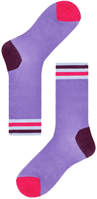 Paarse HAPPY SOCKS Sokken HYSTERIA LONA CREW SOCK  - large
