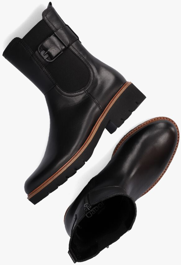 Zwarte GABOR Chelsea boots 731.2  - larger