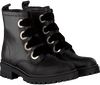 Zwarte TOMMY HILFIGER Veterboots METALLIC CLEATED LACE UP BOOT - small