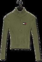 Groene TOMMY JEANS Sweater TJW HALF ZIP THRU SWEATER