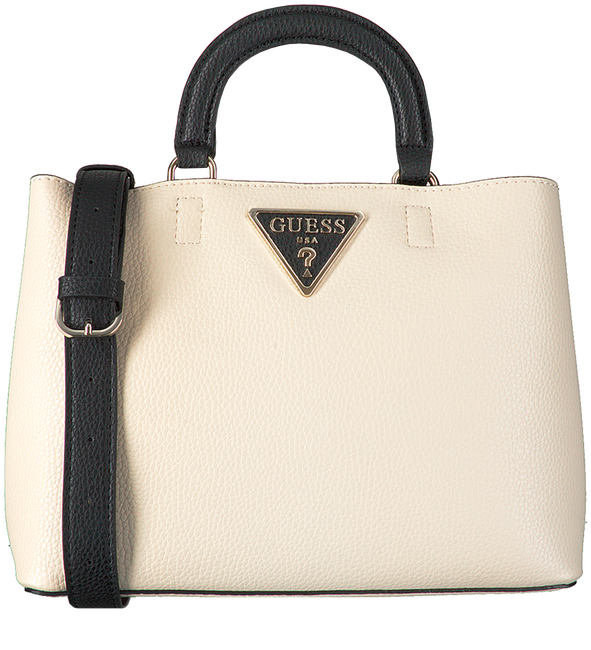 Witte GUESS Handtas ARETHA GIRLFRIEND SATCHEL - large