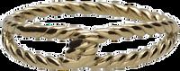 Gouden NOTRE-V Ring RING KNOOP  - medium