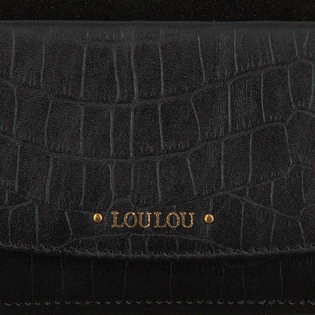 Zwarte LOULOU ESSENTIELS Portemonnee SLB CLASSY CROC  - large