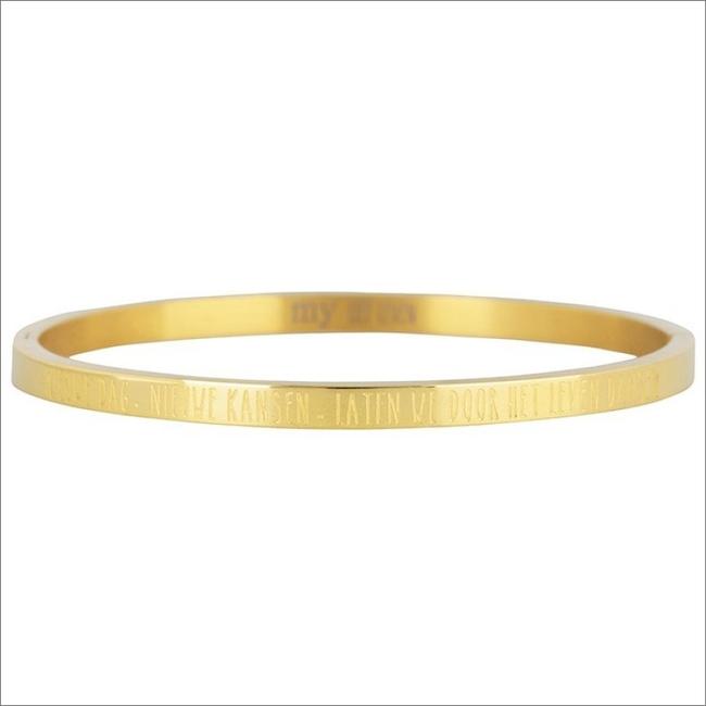 Gouden MY JEWELLERY Armband NIEUWE DAG, NIEUWE KANSEN BANG - large