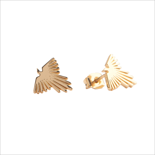 Gouden ATLITW STUDIO Oorbellen PARADE EARRINGS EAGLE - large