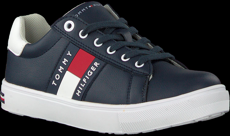 Blauwe TOMMY HILFIGER Lage sneakers LOW CUT LACE UP SNEAKER