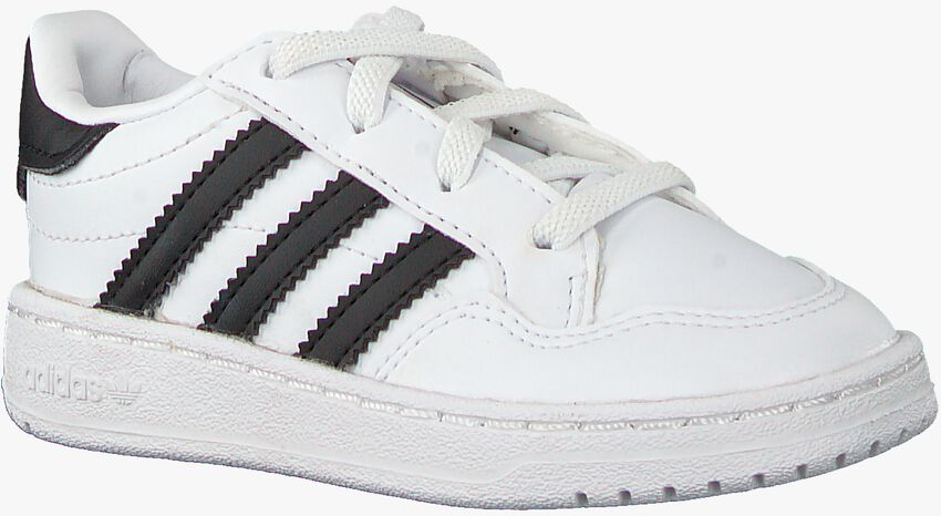Witte ADIDAS Lage sneakers TEAM COURT EL I  - larger