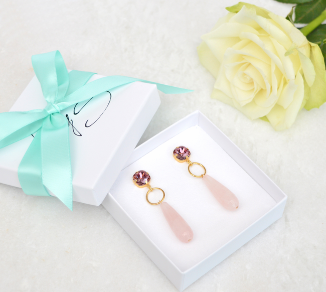 Roze JEWELLERY BY SOPHIE Oorbellen LUXURY EARRINGS - large