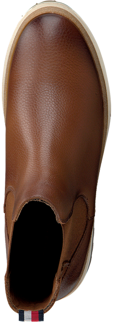 Cognac TOMMY HILFIGER Enkellaarsjes RUGGED CLASSIC BOOT  - large