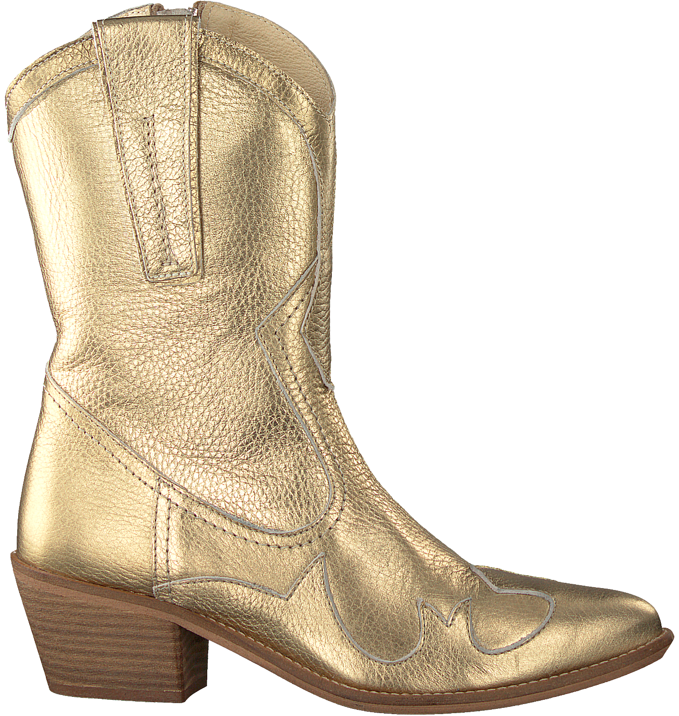 Gouden Hoge Laarzen | KLEDING.nl