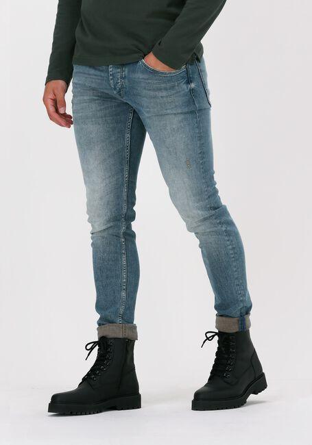 Lichtblauwe CAST IRON Slim fit jeans RISER SLIM GREEN TINT VINTAGE - large