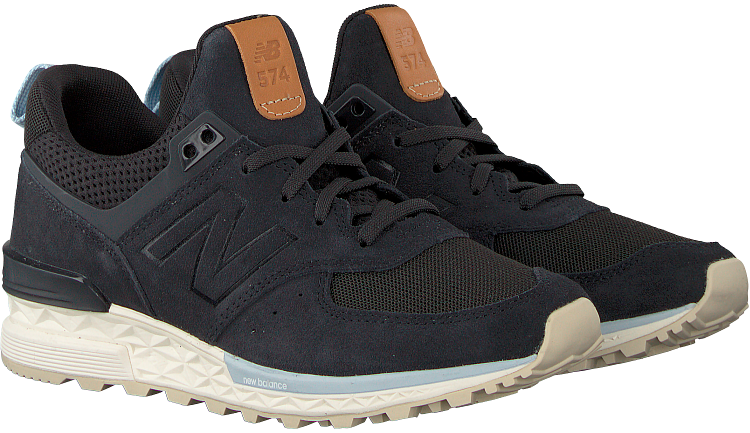 new balance ws574 black dames sneakers zwart
