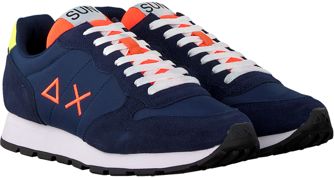 Blauwe SUN68 Lage sneakers TOM FLUO MEN - large