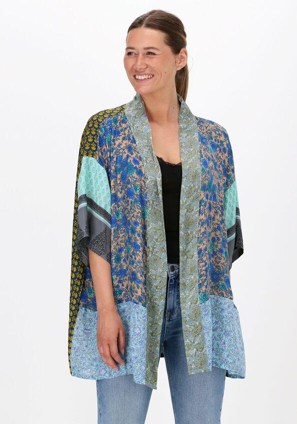 Blauwe SISSEL EDELBO Kimono LOTUS SHORT MIX KIMONO - larger