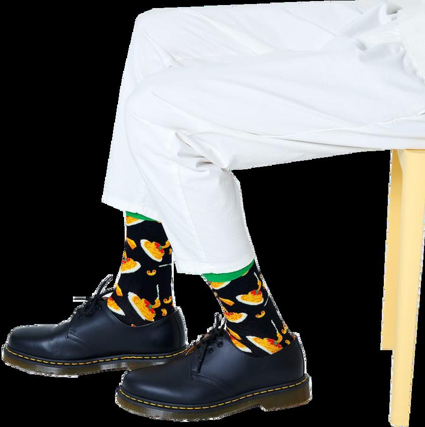 Zwarte HAPPY SOCKS Sokken MAC & CHEESE  - larger