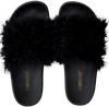 Zwarte THE WHITE BRAND Slippers FEATHERS - small