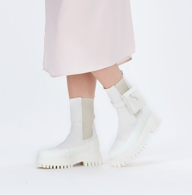Witte BRONX Chelsea boots GROOV-Y  - large