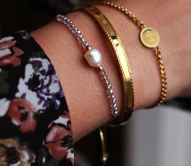 Gouden MY JEWELLERY Armband ARMBAND BEDEL LA VITA E BELLA  - large
