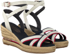 Witte TOMMY HILFIGER Sandalen ICONIC ELBA CORPORATE  - small