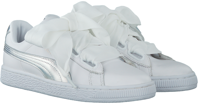Witte PUMA Sneakers BASKET HEART EXPLOSIVE  - large