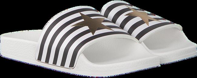 Witte THE WHITE BRAND Slippers STAR WHITE STRIPES  - large