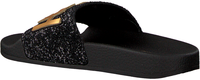 Zwarte THE WHITE BRAND Slippers GLITTER PATCH  - large
