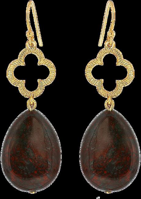 Bruine JEWELLERY BY SOPHIE Oorbellen CLOVER EARRINGS - large