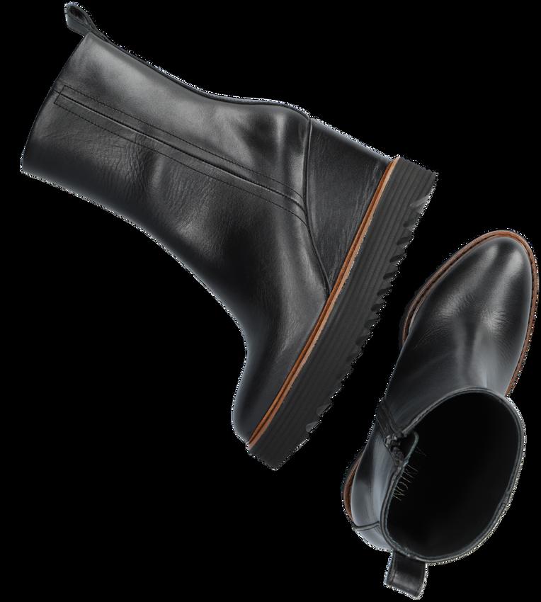 Zwarte NOTRE-V Enkellaarsjes 17404  - larger