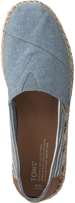 Blauwe TOMS Instappers CLASSIC HEREN  - large