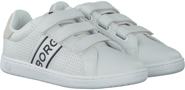 Witte BJORN BORG Sneakers T310 LOW VELCRO  - large