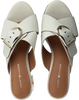 Witte TOMMY HILFIGER Slippers MID HEEL MULE OVERSIZED BUCKLE - small