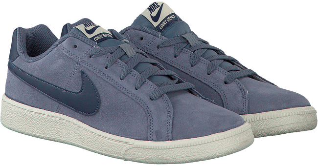 Blauwe NIKE Sneakers COURT ROYALE SUEDE MEN  - large